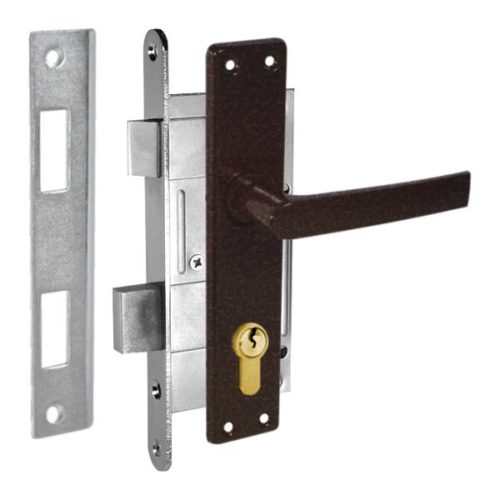 durvju slēdzene ZV45 lāsumaini brūna